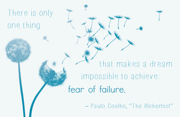 """Fear of Failure"" quote from Paulo Coelho"