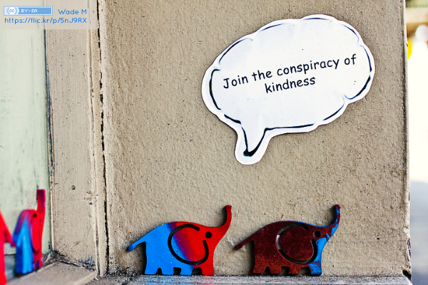 """Join The Conspiracy Of Kindness"" by Wade M on Flickr"